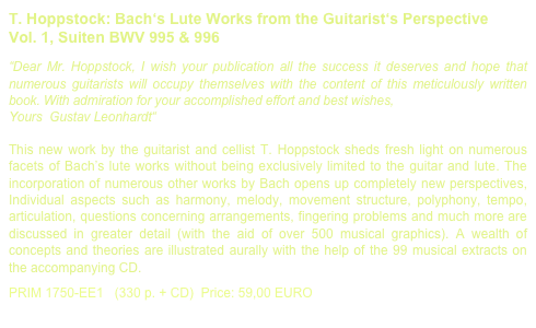 T. Hoppstock: Bach's Lute Works from the Guitarist's Perspective